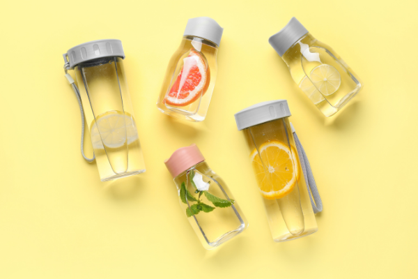 5 bottles of infused waters